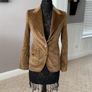 Dolce & Gabbana Chocolate Brown Velvet Blazer